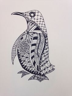 Penguin Zentangle                                                                                                                                                                                 More