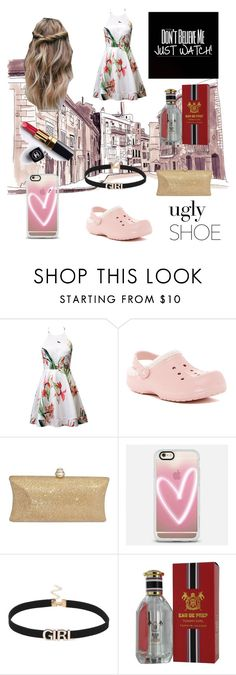 """""""Uptown funk"""" by palm0011 ❤ liked on Polyvore featuring Crocs, Casetify, Chanel and Tommy Hilfiger"""