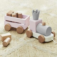 Pink and Gray Wooden