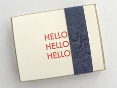 """Hello"" Letterpress Notecards from Made by Good"