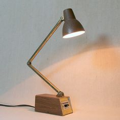 INDUSTRIAL STEEL   #LAMP   Vintage Mid Century Adjustable Arm Desk Lamp by Tensor Retro Office Decor Small Portable Task Light. $19.00, via Etsy.   #pixar     #fanart     # Pin++ for Pinterest #