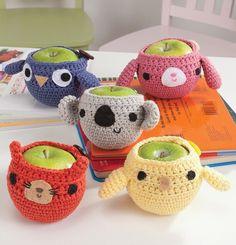 Apple jackets :) animals -  cute -  #crafts