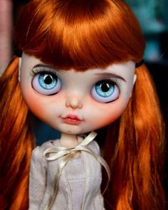 First Doll of the year :) Her faceplate is for selling on Etsy! #blythe #blythedoll #gingerblythe #c - natmdolls