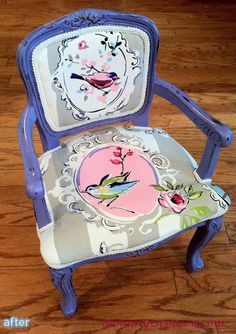not the color but the chalk paint bird is great! mommy is coo coo: Distressed Homemade Chalk Paint Chair