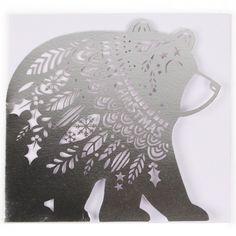 Laser-cut polar bear Christmas card