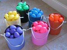 Separate your eggs by color. Perfect for multiple kids. Why didn't I think of that?