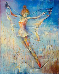 I'm Flying by Anna Ravliuc Unicorn And Fairies, Cool Artwork, Faeries, Saatchi Art, Modern Art, Anna, Fairy, Fantasy, Gallery