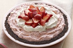 Tarte à la crème aux fraises facile à préparer