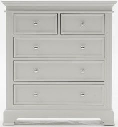Vida Living Deauville Dove Grey Tall Chest of Drawer £359