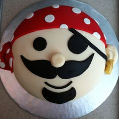 Pirate cake for Kate's princess and pirate birthday party