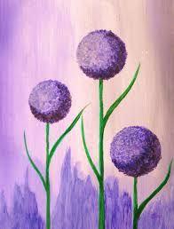 Ich habe zierlauch auf dem wochenmarkt gesehen und musste ihn malen what a beautiful flower i - Acrylbilder vorlagen kostenlos ...
