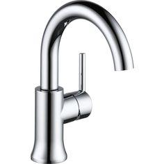 Delta Trinsic Chrome 1-Handle Single Hole WaterSense Bathroom Faucet (Drain Included)