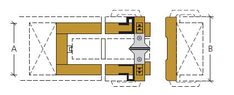 Liukuovien mitat | JELD-WEN Sissi, Karma, Floor Plans, Retro, Retro Illustration, Floor Plan Drawing, House Floor Plans