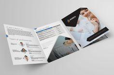 Bi-fold brochure template #inspiration | via www.behance.net/gallery/Bi-Fold-Brochure-1/10583665