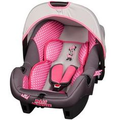 Disney Minnie Mouse Pink Dots Car Seat - Pink Stroller - Ideas of Pink Stroller - Disney Minnie Mouse Pink Dots Car Seat Minnie Mouse Nursery, Minnie Mouse Pink, Baby Mouse, Mini Mouse, Mickey Mouse, Baby Car Mirror, Baby Necessities, Baby Alive, Everything Baby