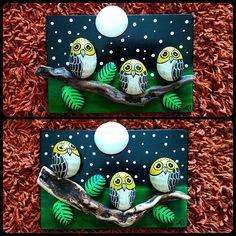 #taşboyama #taştablolar #stonepainting #stonetables #owl