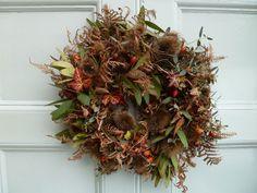 Autumnal wreath via Ben Pentreath.