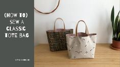 How To Sew A Chubby Tote Bag | Beginner Friendly - YouTube Diy Tote Bag, Reusable Tote Bags, Diy Bags, Diy Purse, Craft Bags, Diy Bag Designs, Bag Pattern Free, Tote Tutorial, Sewing Tutorials