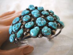 Signed Vintage NAVAJO Heavy Sterling Silver & by TurquoiseKachina