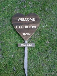 DIY Wedding Sign Heart Sign for Wedding With by TRUECONNECTION, $50.00