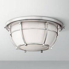 """Hudson Valley Conrad 11 3/4""""W Nickel Ceiling Light"""