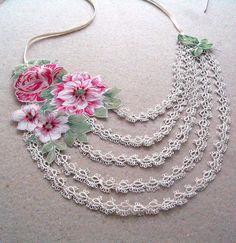 Romantico floreale collare collana chiacchierino di mammamiaeme