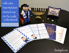 These Mensch On A Bench Printables will make your family's Hanukkah celebration extra fun. With a hello letter, cute notes, a game, and more, you will have everything you need to start a fun new holiday tradition.