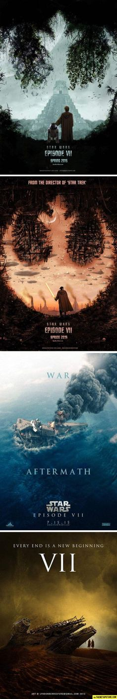 Awesome concept posters for new Star Wars!