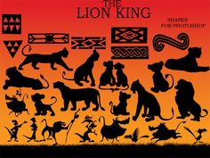 lion king silhouettes - Google Search