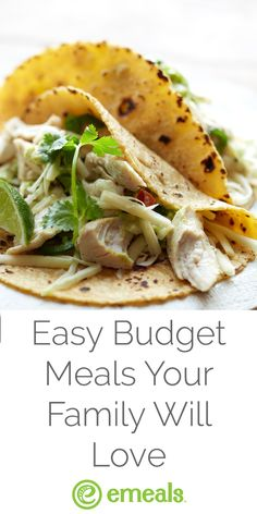 Easy budget meals your family will love. Get weekly recipes with a matching grocery list delivered to you each week!