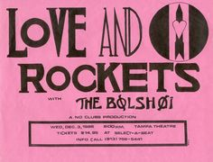 Love and Rockets & The Bolshoi ('80s concert flyer).