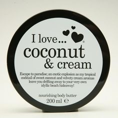 I Love Coconut & Cream Body Butter Coconut Cream, Body Butter, Beauty Secrets, Bath And Body, Health And Beauty, Fragrance, Eyeshadow, Skin Care, Love