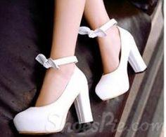 Shoespie Chunky Heel Round Toe Platform Heels