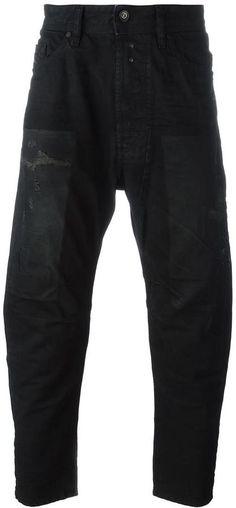 Diesel distressed tapered jeans
