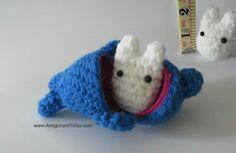 Amigurumi To Go: Tiny White Totoro Pattern One of Three For Stackin...