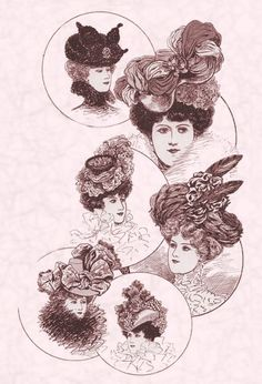 1898 HAIRSTYLES | Her bridesmaid's bodice has sleeves which have a look of sleeve heads ...