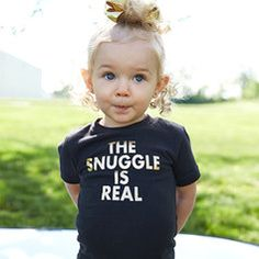 the snuggle is real // love this t! // can I get one in my size?!