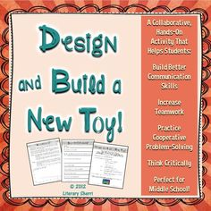 You have been hired to work with a team to design and build a new toy! Your toy will be marketed across the nation this coming holiday season! This collaborative, hands-on, ELA and STEM-aligned activity fosters team-building, critical thinking, collaborative problem-solving, communication, and social skills. Engaging, fun, proactive learning for back-to-school, half-days, special days . . . or any day! Writing assignments, grading rubrics, and CCSS included! FREE!