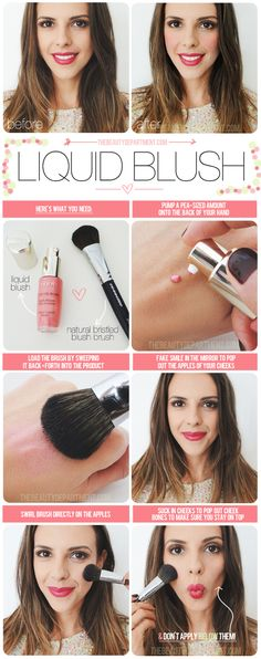 The Beauty Department - how to apply liquid blush