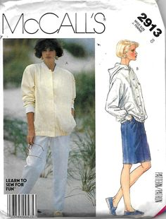 McCall's 2913 Misses Unlined Jacket, Straight Skirt And Tapered Pants Pattern, Size 8, UNCUT by DawnsDesignBoutique on Etsy