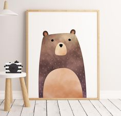 SALE PDF Woodland Nursery, Bear Print, Bear Art, woodland bear, Printable Art, Animal Print, Animal Art Print, watercolor bear,woodland Art This is a DIGITAL wall art download item, NO PHYSICAL item, and your purchase does not include a frame or mat. ------------------------- ♥ YOU WILL RECEIVE: ----------------------------------------------- WOODLAND NURSERY PRINT - 1x high resolution (300 dpi) JPG file - size 8x10 inches - 1x high resolution (300 dpi) JPG file - size 11x14 inches - 1x ...