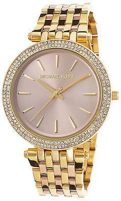 Michael Kors MK3507 Women's Darci Gold-Tone and Rose-Tone SS Rose-Tone Dial