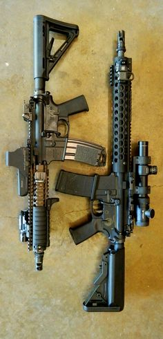 """Assault rifles, lets go shooting! Please don't call them """"ASSAULT RIFLES"""" they aren't,they are simply RIFLES,The idiots in Washington don't know a fore stock from a butt stock,let's not help them by LABELING them ourselves Military Weapons, Weapons Guns, Guns And Ammo, Glock Guns, Assault Weapon, Assault Rifle, Lethal Weapon, Tactical Rifles, Firearms"""
