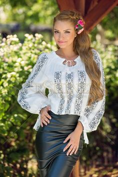Romantic Imagine White Blouse Clothing Items, Romantic, Latest Fashion Trends, My Outfit, Bell Sleeve Top, Ruffle Blouse, Embroidery, Skirts, Traditional