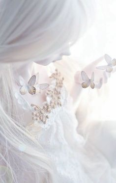 feminine and ethereal All White, Pure White, White Art, Butterfly Kisses, Butterflies, Butterfly Fairy, White Butterfly, Butterfly Wings, Shades Of White