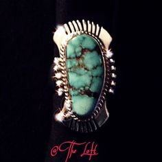 % Authentic STERLING SILVER and TURQUOISE Ring. 99% solid sterling silver and turquoise ring, originated from the Vermillion Cliffs, Arizona.  Beautifully hand crafted, and naturally colored, with a rare light blue color.  It contains 1.5 oz solid silver (.925), and The only one ever made.  A true treasure for a lifetime.  Artist signature on inside. (Sorry no trades, pay pal, and price is firm, due to authenticity). Vintage Jewelry Rings