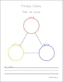 Worksheets Primary Colors Worksheet primary colors worksheets and preschool on pinterest