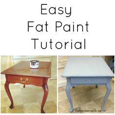 Fat Paint Tutorial - Front Porch Mercantile