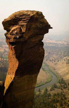 Climbing Smith Rock - Oregon, USA.