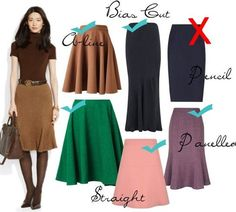 Best skirts for pear shapes